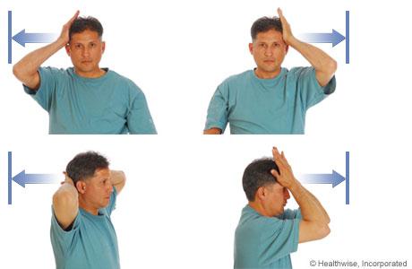 تصویر تقویت عضلات گردن