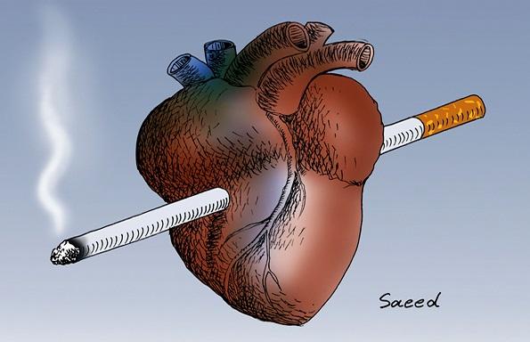 زیان های سیگار برای قلب