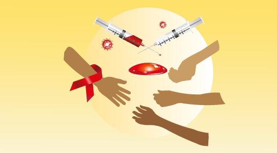 انتقال ایدز از طریق تزریق مشترک