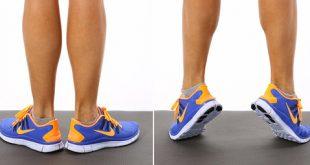 تمرین ساده ساق پا در منزل