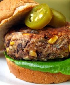 طرز تهیه برگر ذرت و سویا، مخصوص گیاهخواران