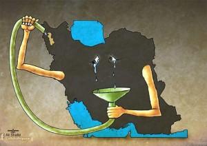 کاریکاتور دریاچه ارومیه سلامت
