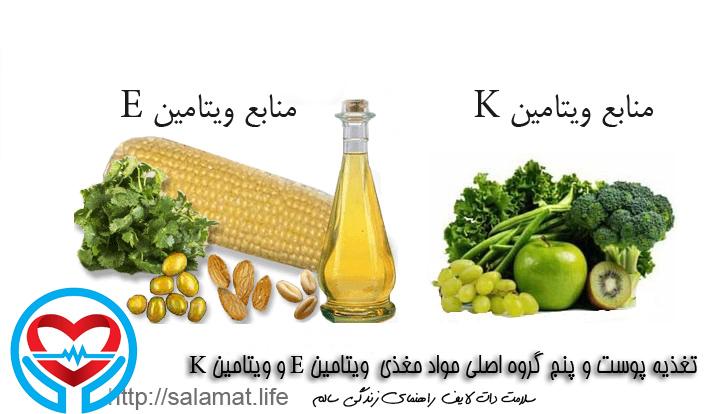 منابع غذایی ویتامین ها