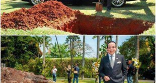 دفن کردن خودروی بنتلی