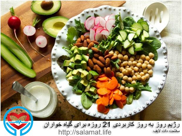 رژیم روز به روز کاربردی 21 روزه برای گیاه خواران
