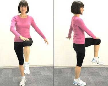 پیاده روی قدرتی-بالا بردن پاها