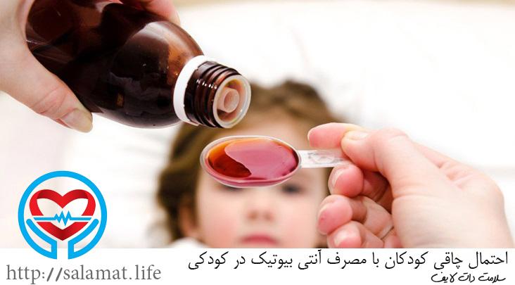 چاقی کودکان با مصرف آنتی بیوتیک