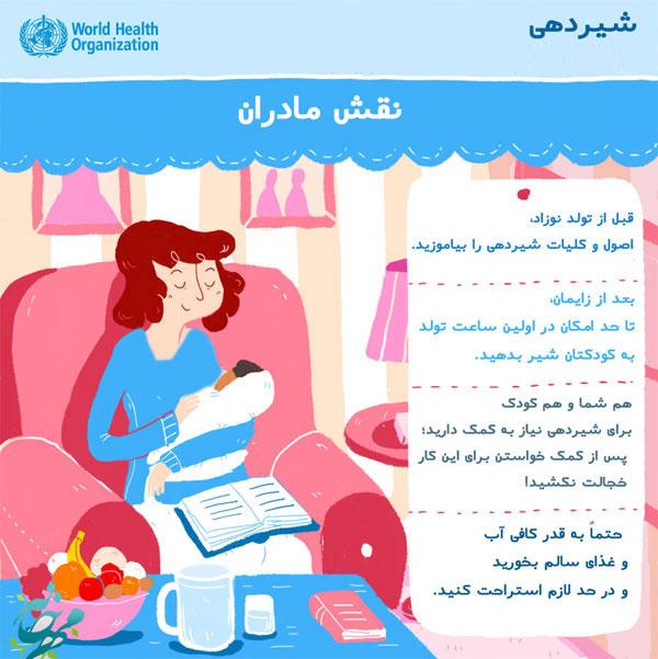 نقش مادر در دوران شیرخوردن نوزاد