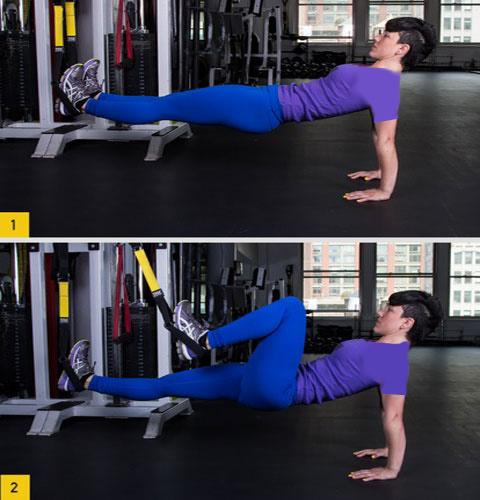 حرکت کوهنورد معکوس تقویت عضلات ران و شکم