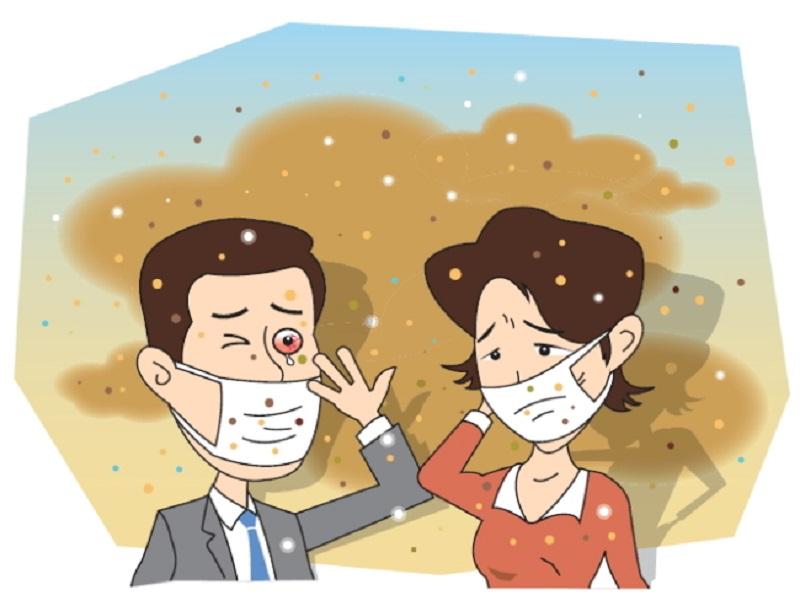 تنفس گرد و غبار