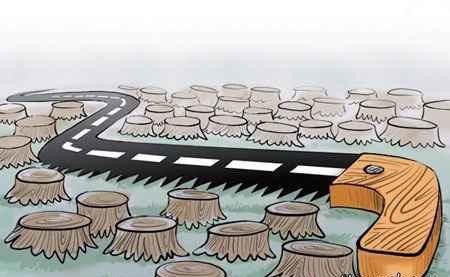 کاریکاتور روز درختکاری