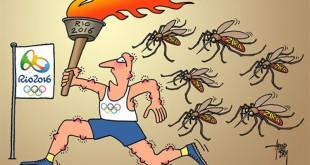 کاریکاتور المپیک ریو و پشه زیکا