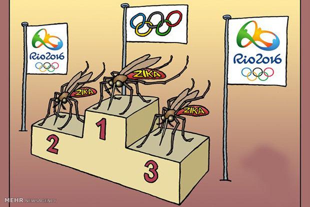 کاریکاتور پشه زیکا و المپیک ریو