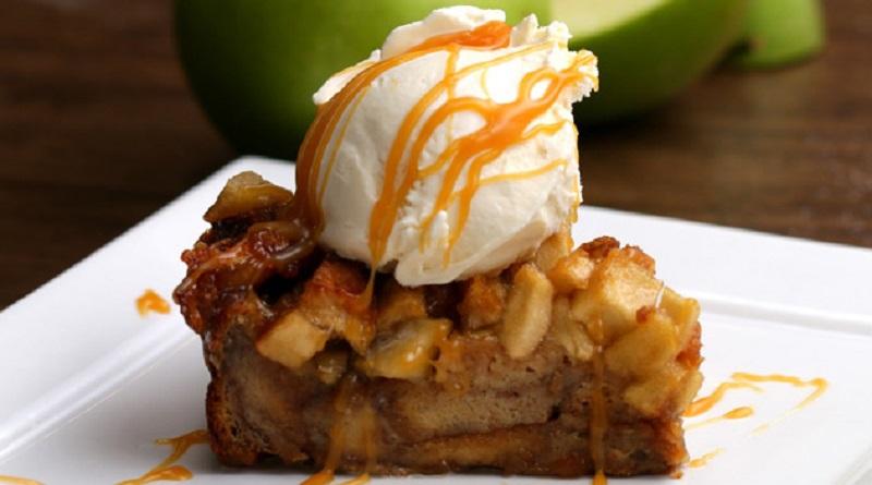 پودینگ نان پای سیب
