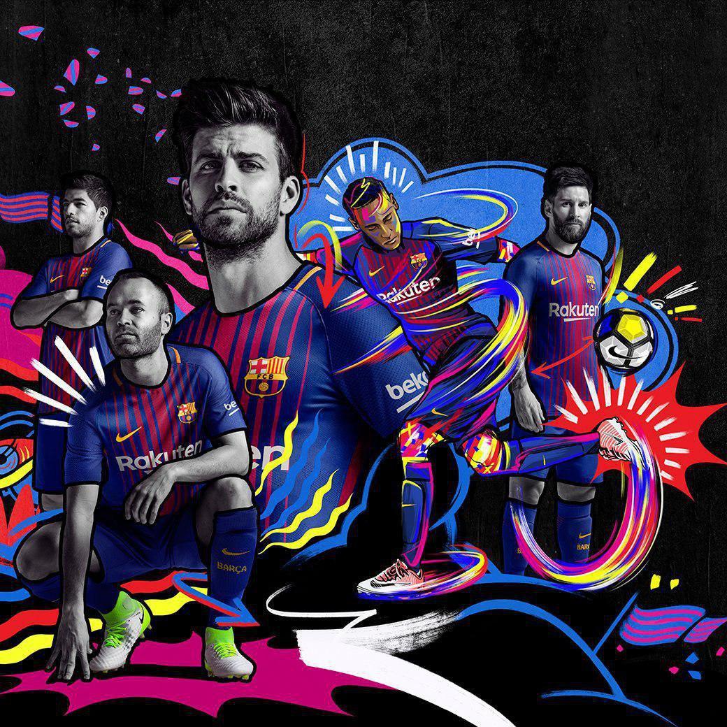 رونمایی از لباس جدید بارسلونا برای فصل آینده