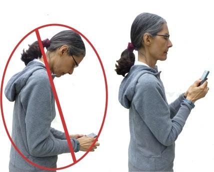 زاویه نگاه کردن به موبایل