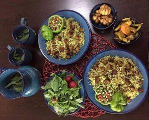 کلم پلو شیرازی برای شب یلدا